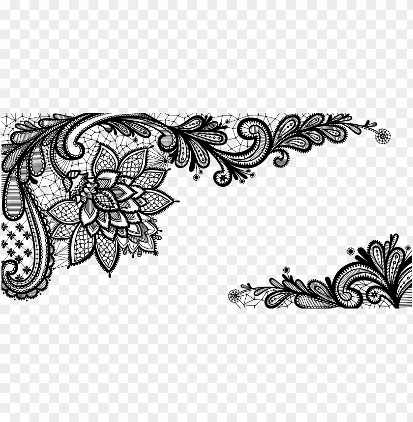 lace art design clipart.