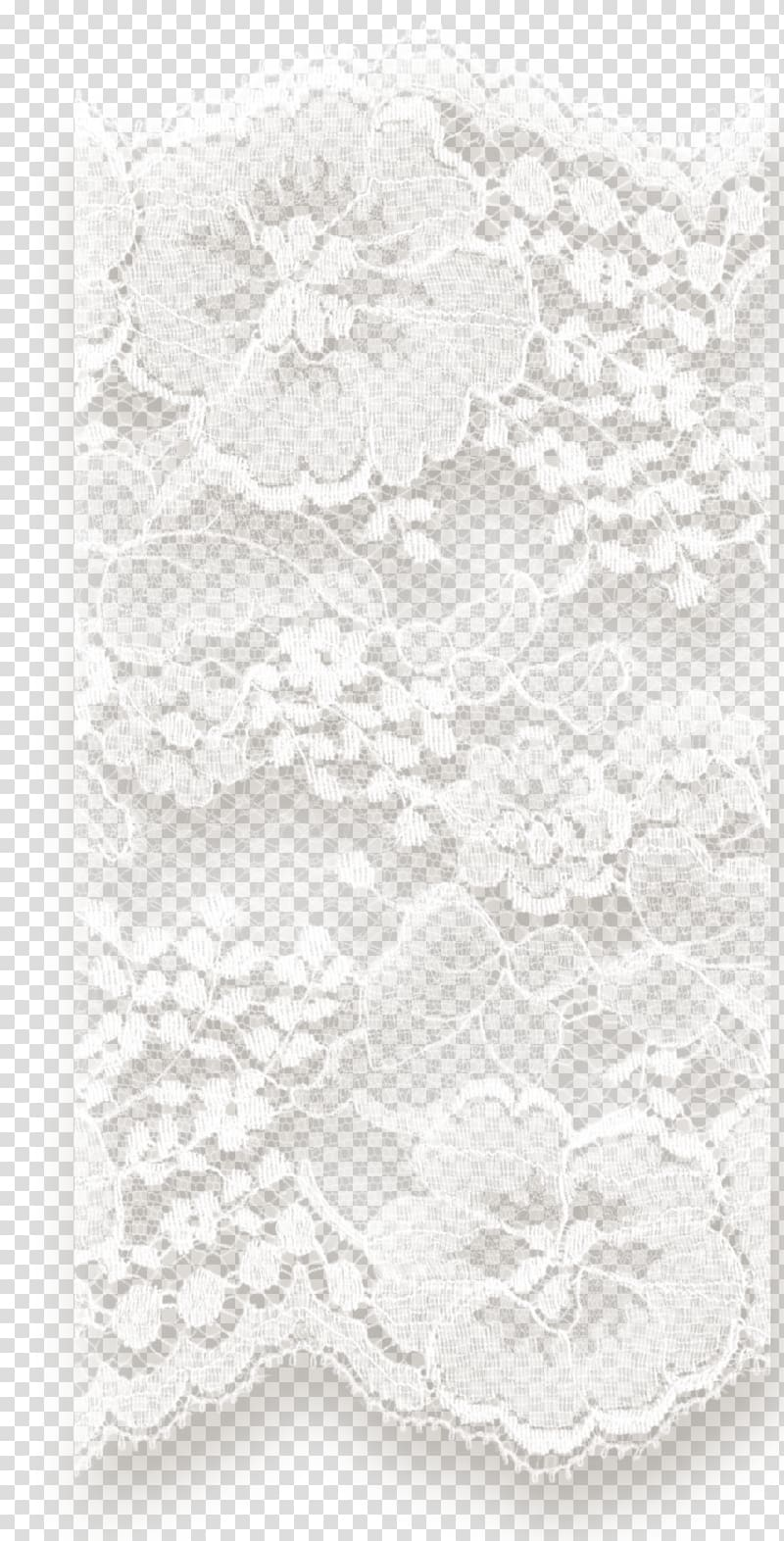 Monochrome Textile White Lace, others transparent background.