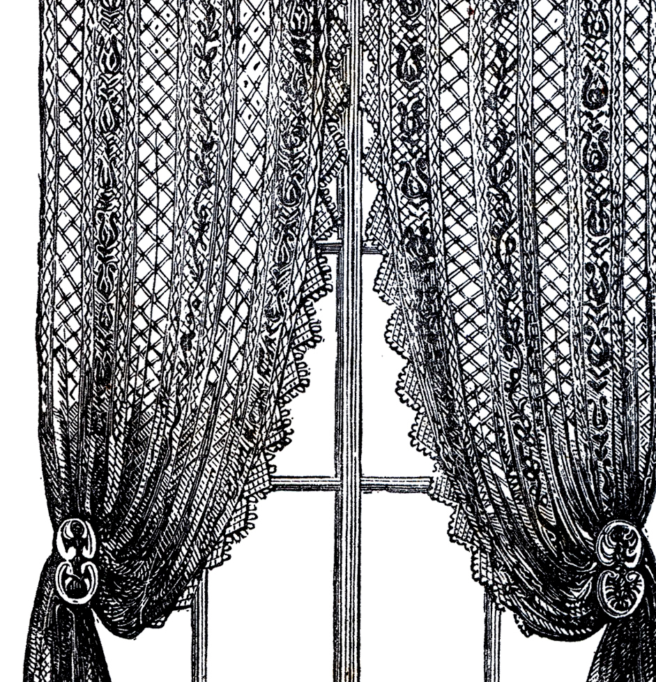 Vintage Lace Curtains Clip Art!.