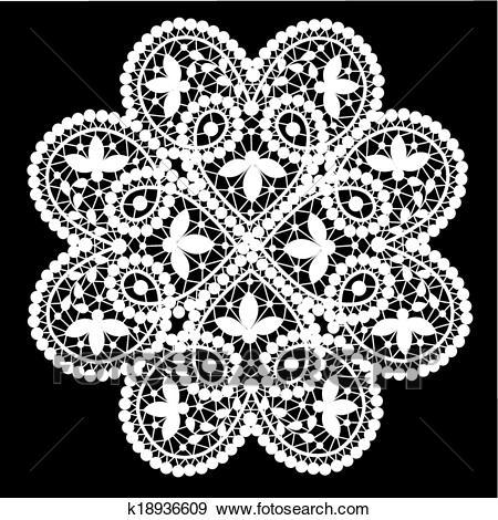 Lace doily Clip Art.