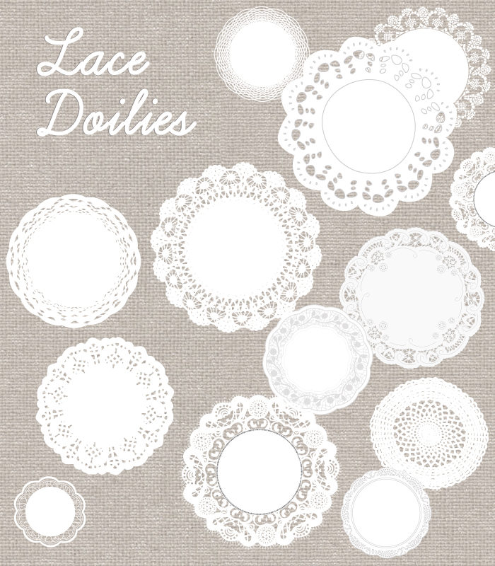 Lace Doily Vector Download.