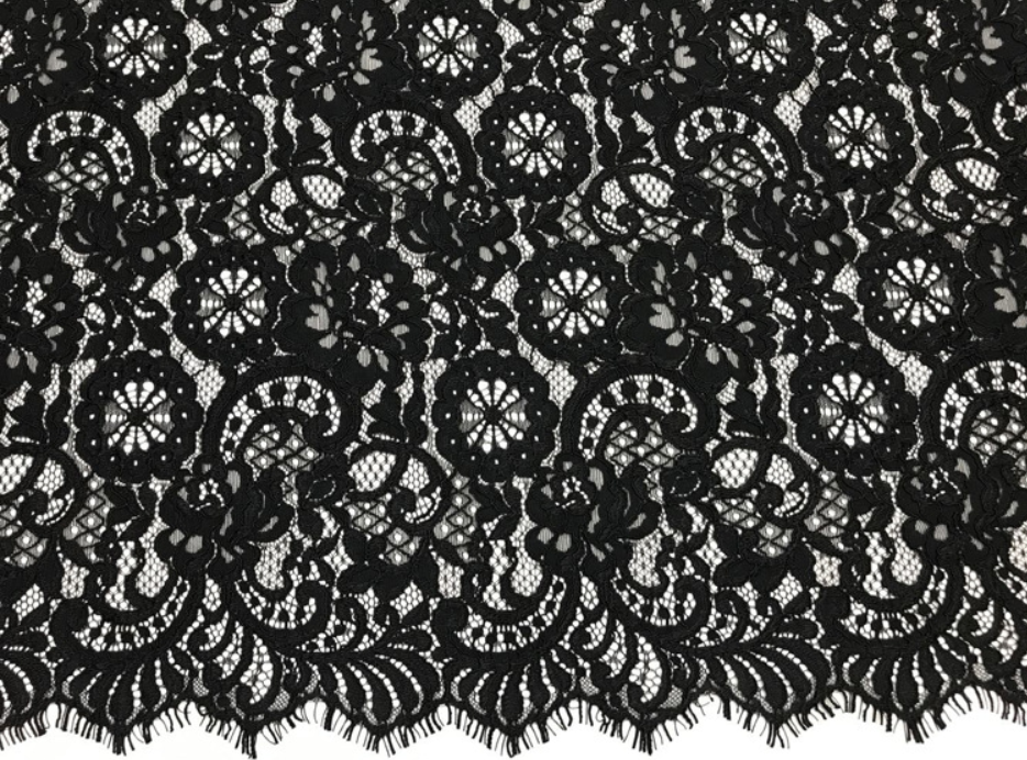alencon lace french chantilly lace fabric with borders.