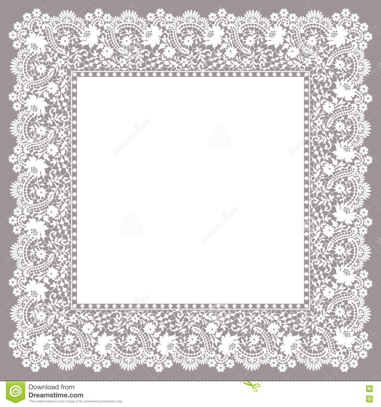 Lace Frame. Clip Art. stock vector. Illustration of classic.