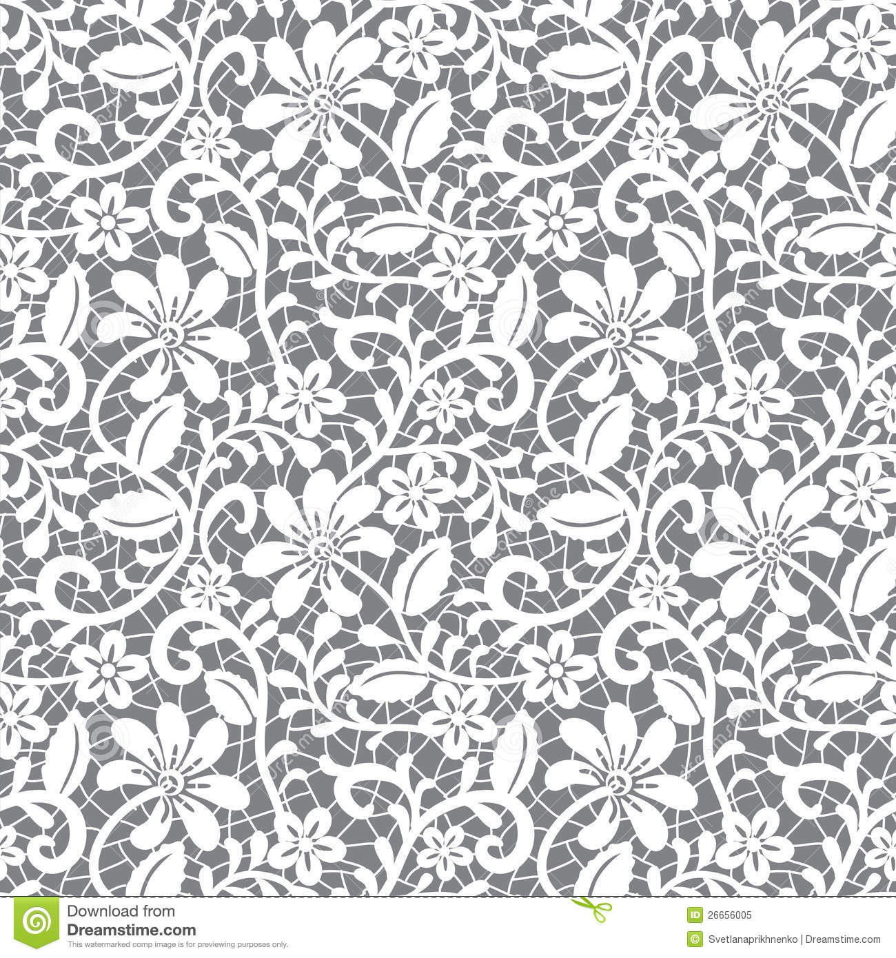 Lace Pattern Clipart.