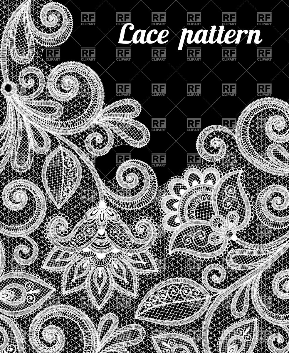2378 Lace free clipart.