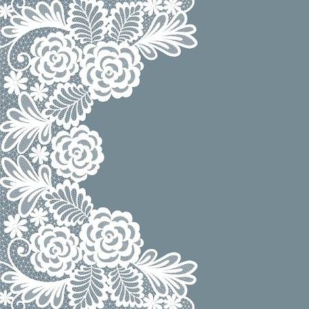 Template Frame Design For Card. Vintage Lace Doily Royalty Free.
