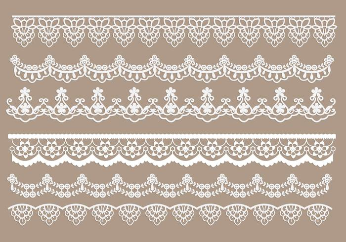 Lace Free Vector Art.