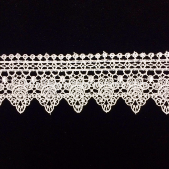 Off White Venice Lace Trim,Ivory Lace,Flower Lace Trim for Costume  Desige,headband Price per 2 yards.