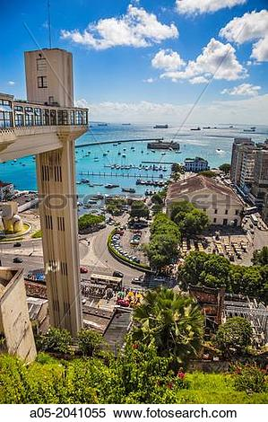 Stock Image of Lacerda Elevator connects Cidade Alta, the upper.