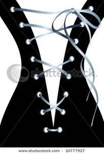 Free Clipart Image: The Back of a Laceup Corset.