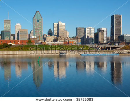 Hdr Image Lachine Canal Montreal Skyline Stock Photo 76313470.