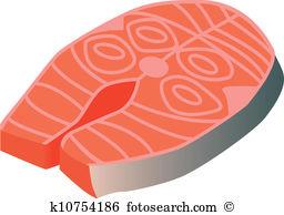 Lachs steak Clip Art Illustrationen. 640 lachs steak Clipart EPS.