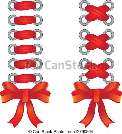 Vector Clipart of Lacing of red tape.