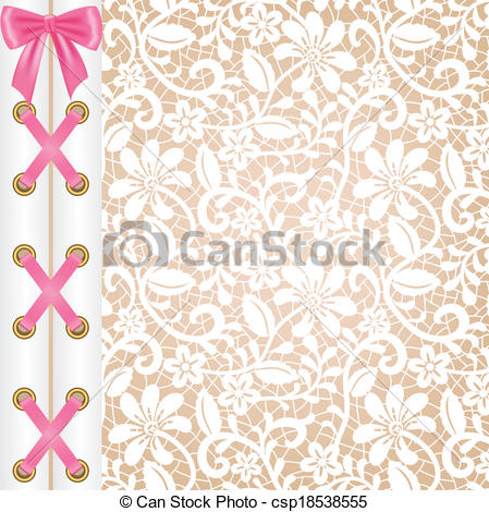 Clipart Vector of lacing.