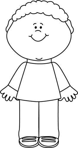 Cute smile clipart lack and white.