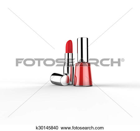 Stock Illustrations of Rouge and nail lacquer k30145840.