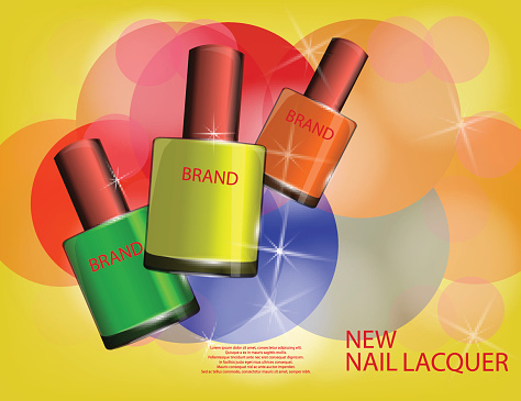 Nail Lacquer Clip Art, Vector Images & Illustrations.