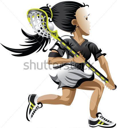 lacrosse girl clipart.