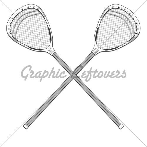 Lacrosse Goalie Stick Clipart.