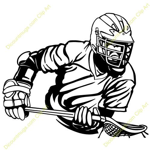 Lacrosse Clipart Vector.