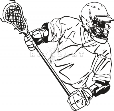 Lacrosse Player Clipart.