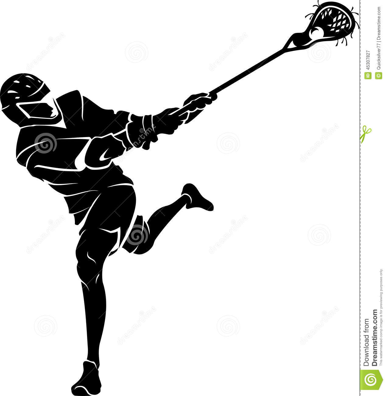 Lacrosse Player Clipart Free.