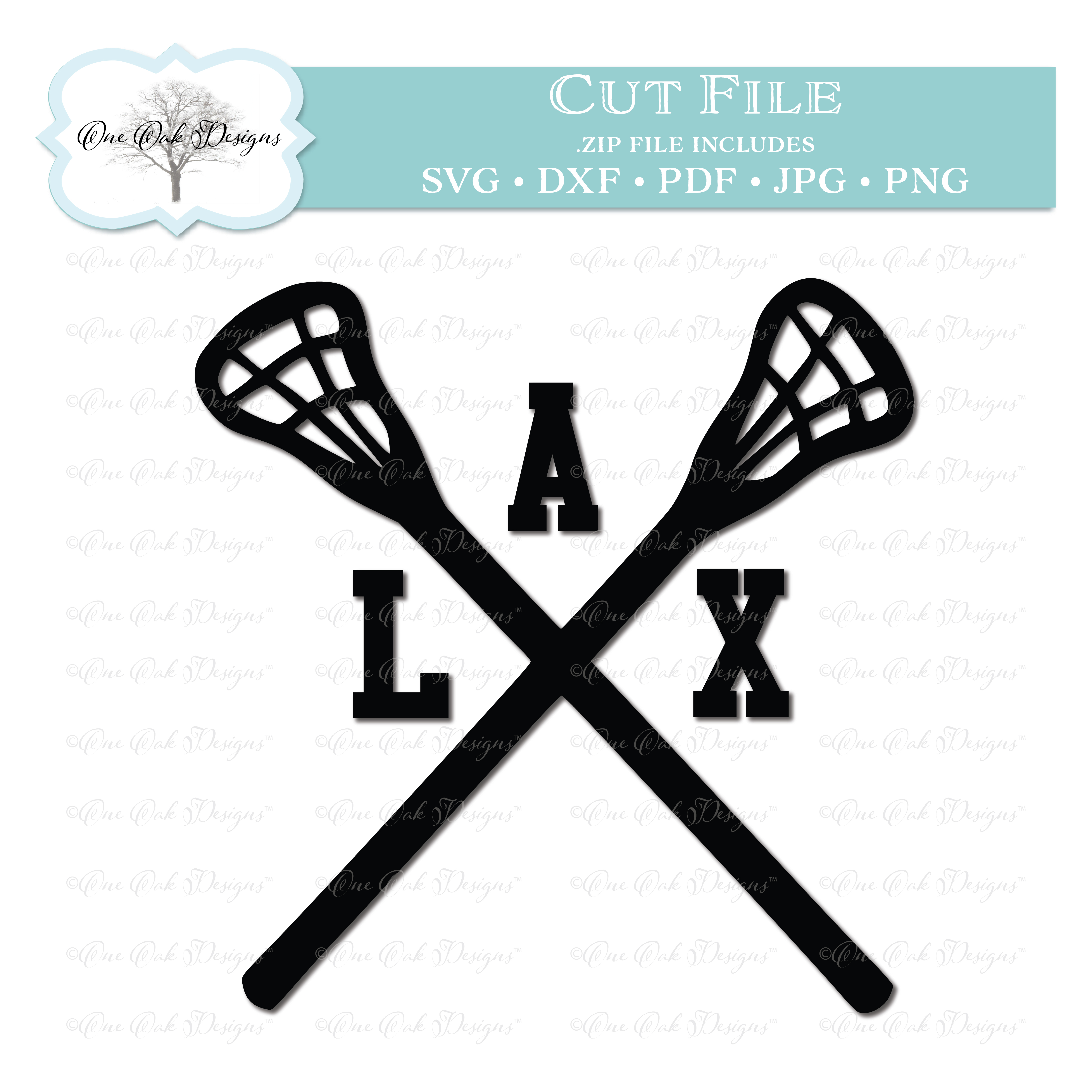 Lacrosse Sticks Crossed LAX.