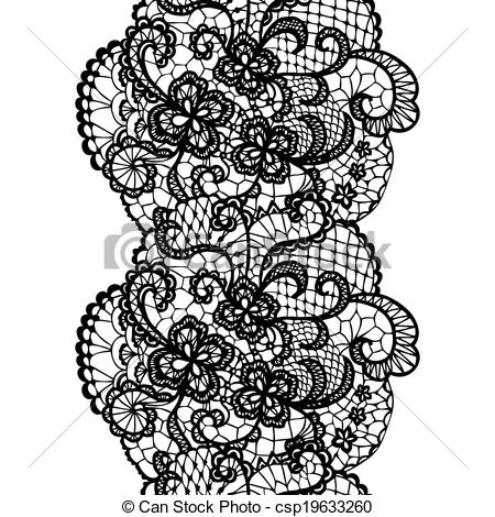 Clip Art Vector of Lacy vintage trim..