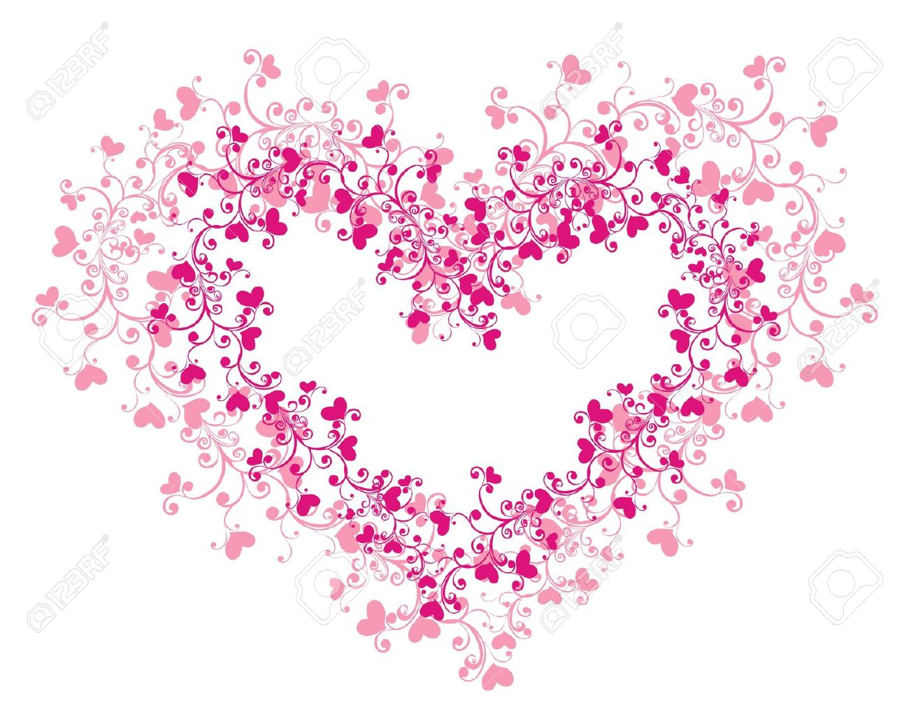 Lacy Heart With Floral Ornament Royalty Free Cliparts, Vectors.