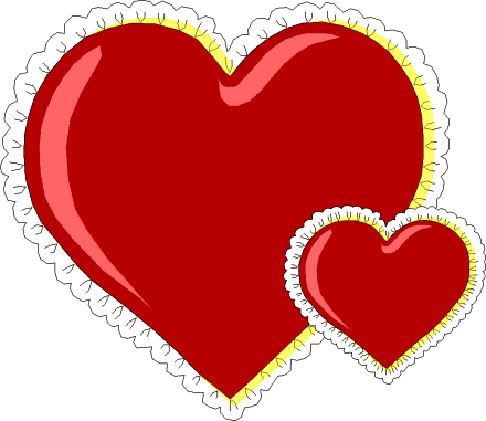 Free Lacy Hearts Clipart, 1 page of Public Domain Clip Art.