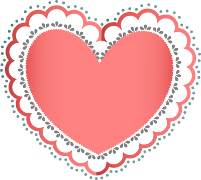 Lacy Heart Clipart.