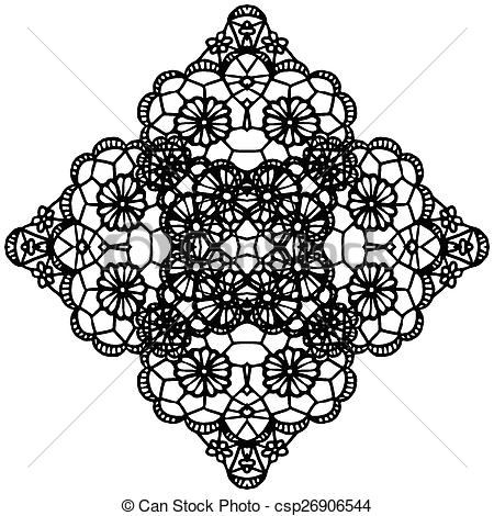 EPS Vector of Elegant lacy doily..