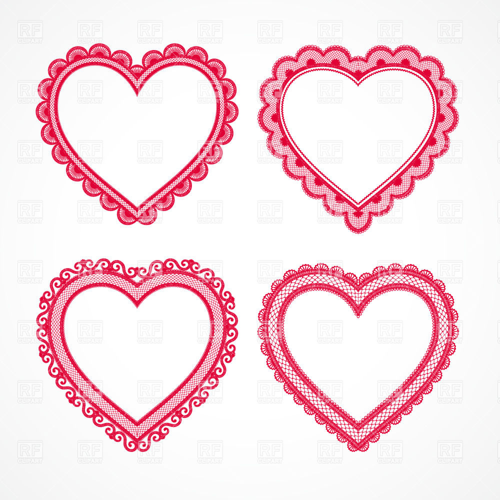 Lacy heart set Vector Image #28614.