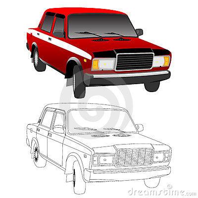 Lada Stock Illustrations.