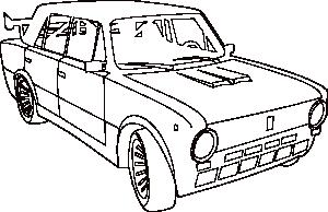 Car Lada Outline Clip Art at Clker.com.