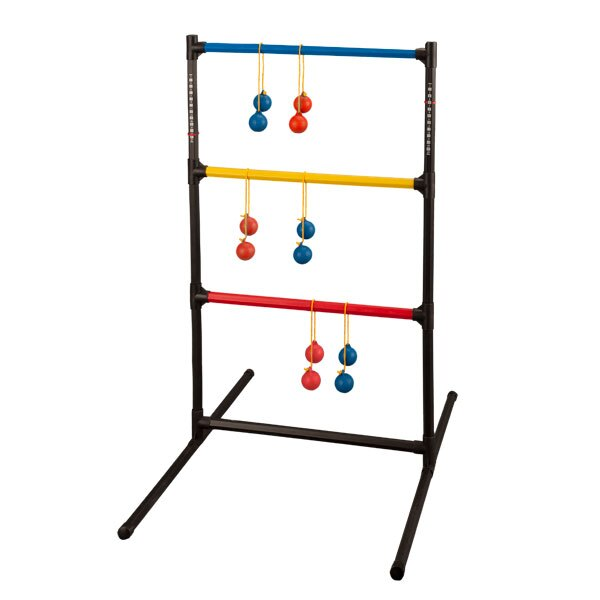 Champion Sports LGSTSET Ladder Ball Golf Game Set, Red & Royal Blue & Black.