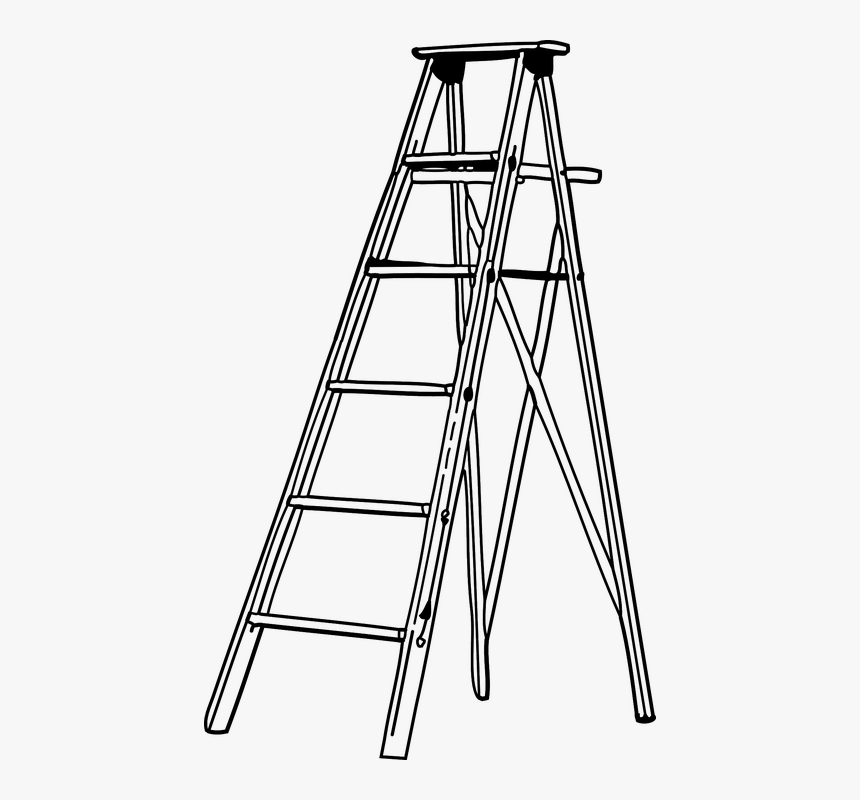 Ladder, Aluminium, Foldable, Metal, Single, Climb.