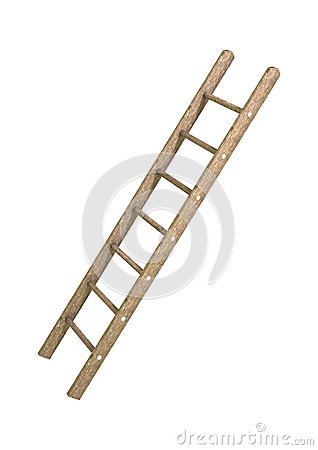Wooden Step Ladder Royalty Free Stock Photo.