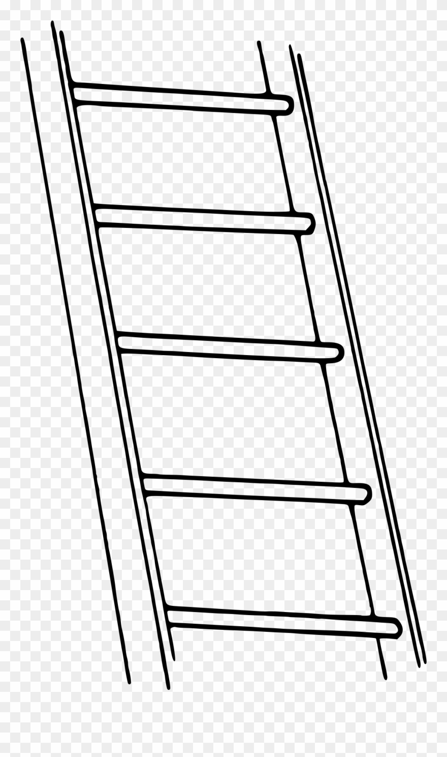 Ladder Clipart Black And White.
