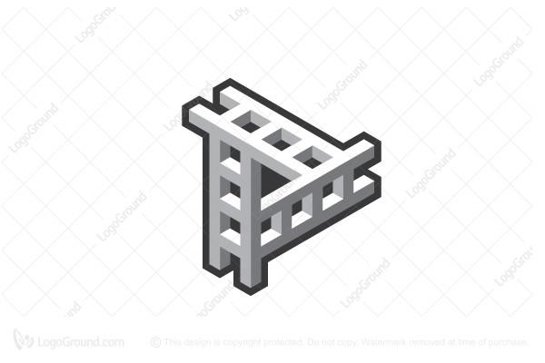 Exclusive Logo 187804, Stylized Ladder Play Film Logo.