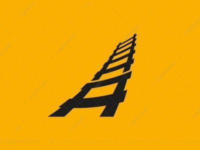 Ladder Letter A Logo (for sale) by Brandmaistro on Dribbble.