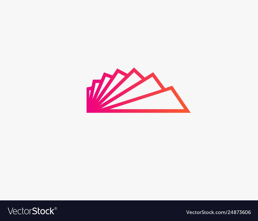 Creative logo icon ladder for interior design.