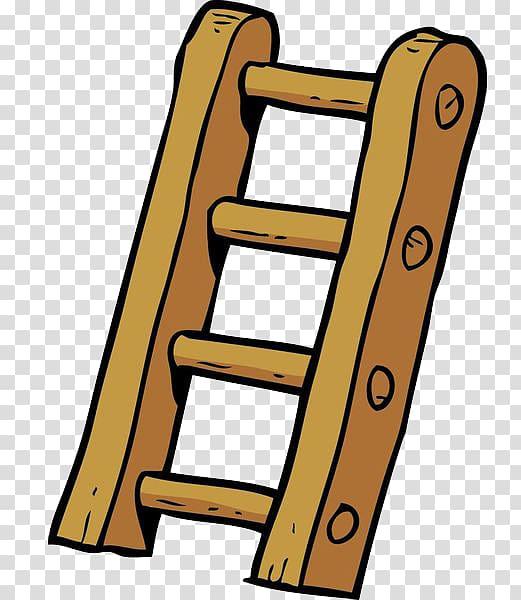 Brown ladder , Cartoon Ladder Illustration, Cartoon wooden.