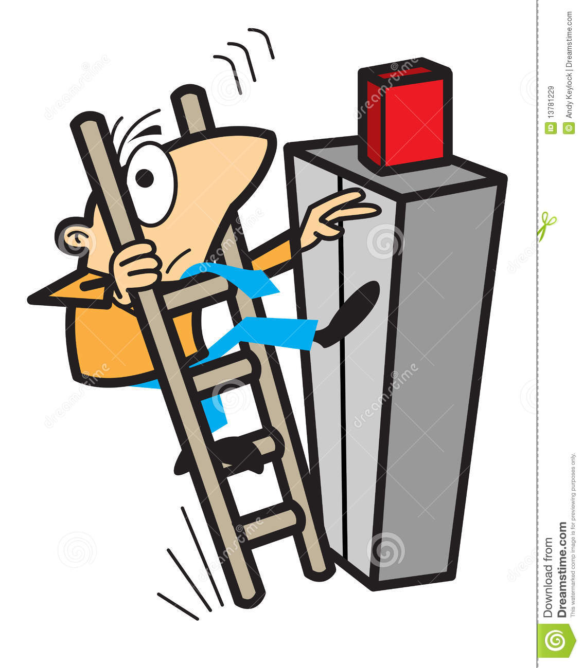 Falling Off Ladder Clipart.