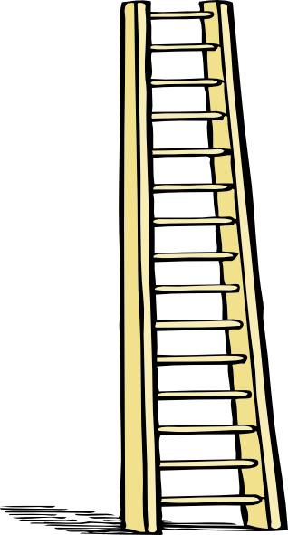 Ladders Different Sizes Clipart Transparent Background.