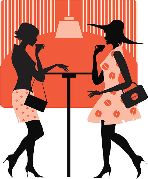 Two Women At Lunch Clip Art, Vector Images & Illustrations.