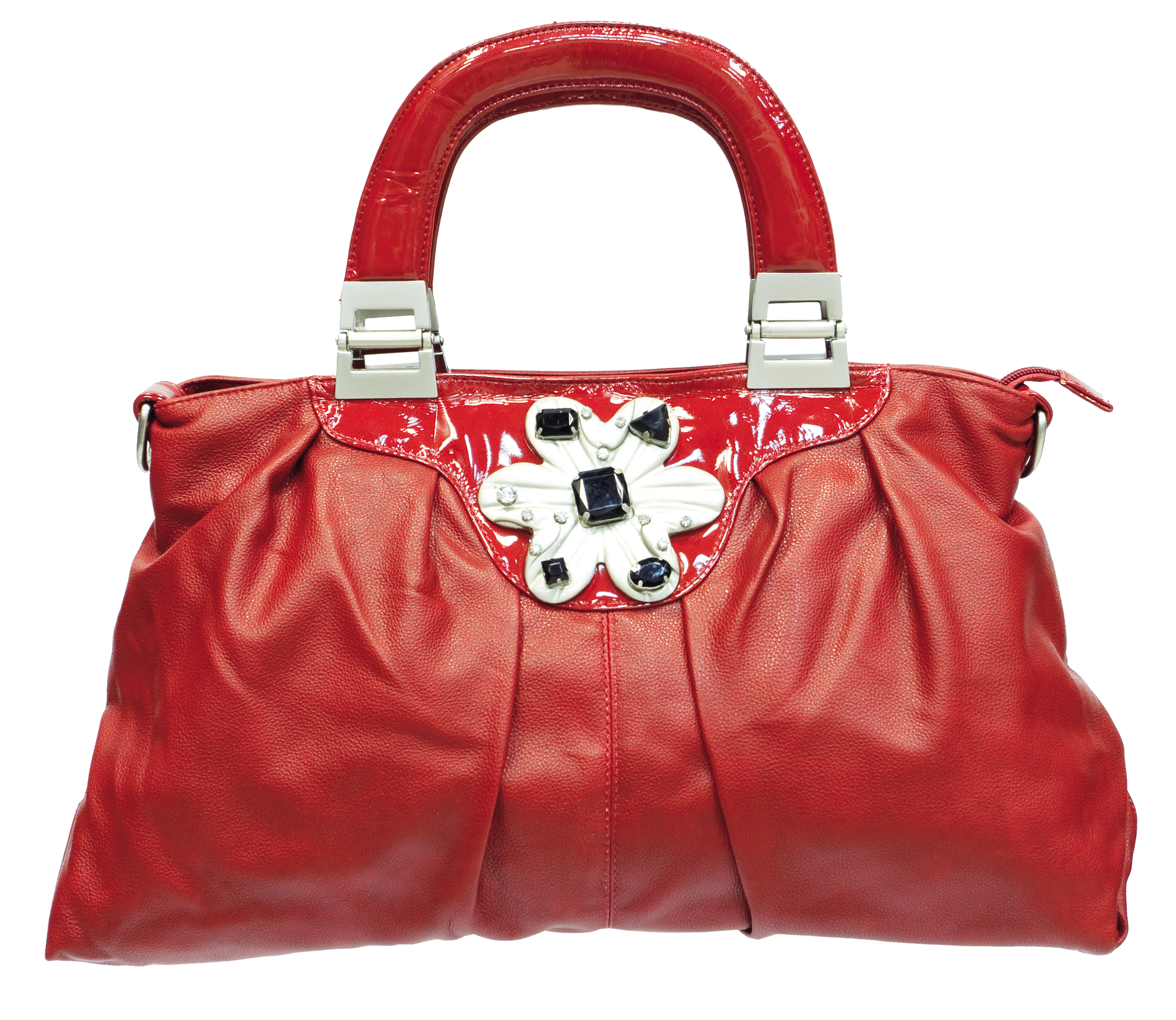 Red Women Bag PNG Image.