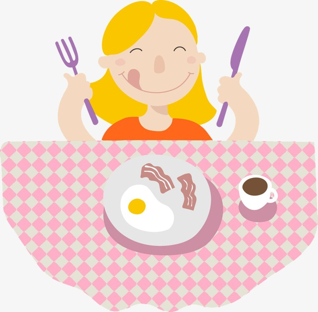 Download Free png Girl Eating Breakfast, Breakfast Clipart.