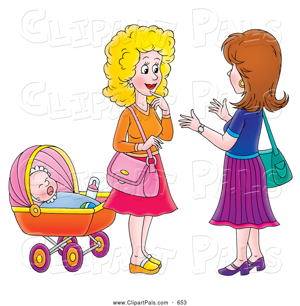 Two Ladies Talking Clipart.