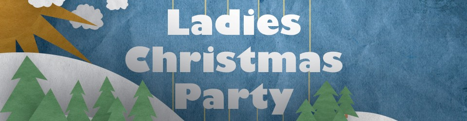ladies christmas party clipart